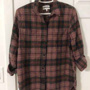 Flannel Plaid Button Down Shirt